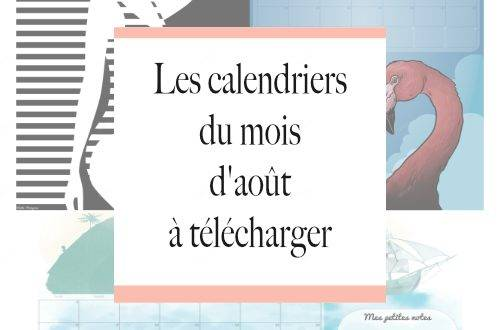 calendriers aout 2016 imprimer