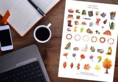 free printable autumn stickers