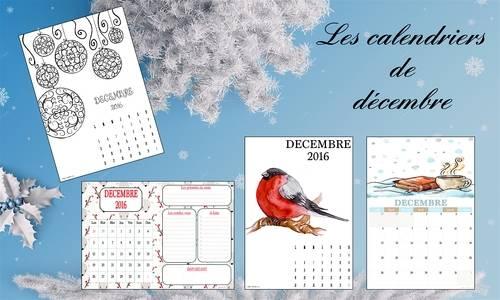 Les calendriers de décembre 2016