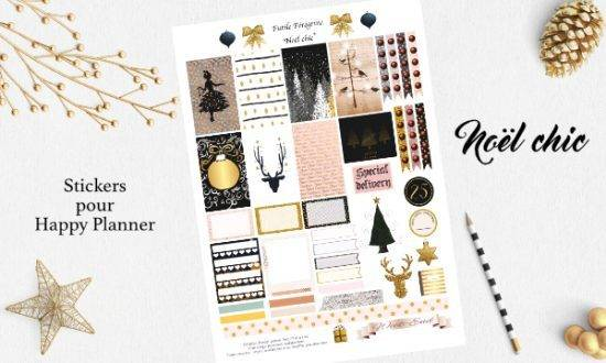 free stickers planner christmas
