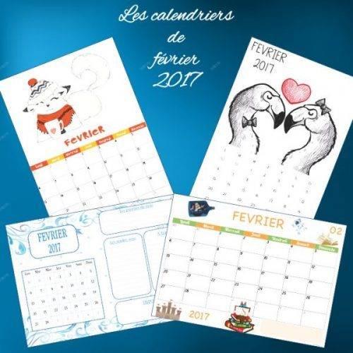 calendriers de février 2017