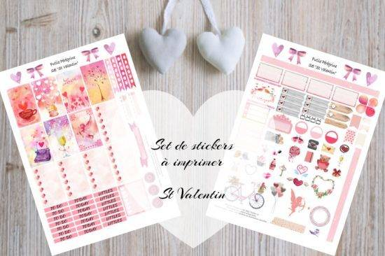 Set de stickers Saint Valentin