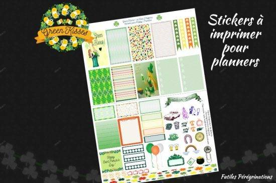 patrick day free printable stickers