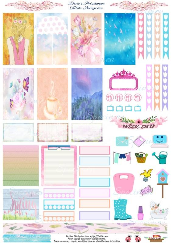 spring free printable stickers