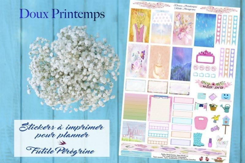 stickers à imprimer : Doux Printemps