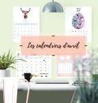 Les calendriers d'avril à imprimer : versions scolaire, murales et planner !