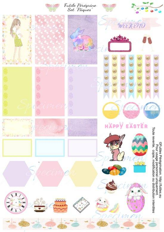 Easter free printable planner stickers