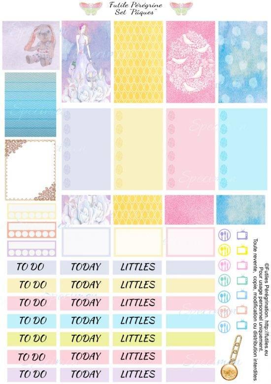 Stickers pour planner Pâques