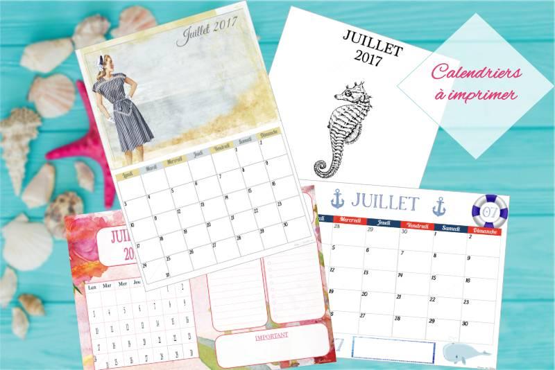 calendriers de juillet à imprimer