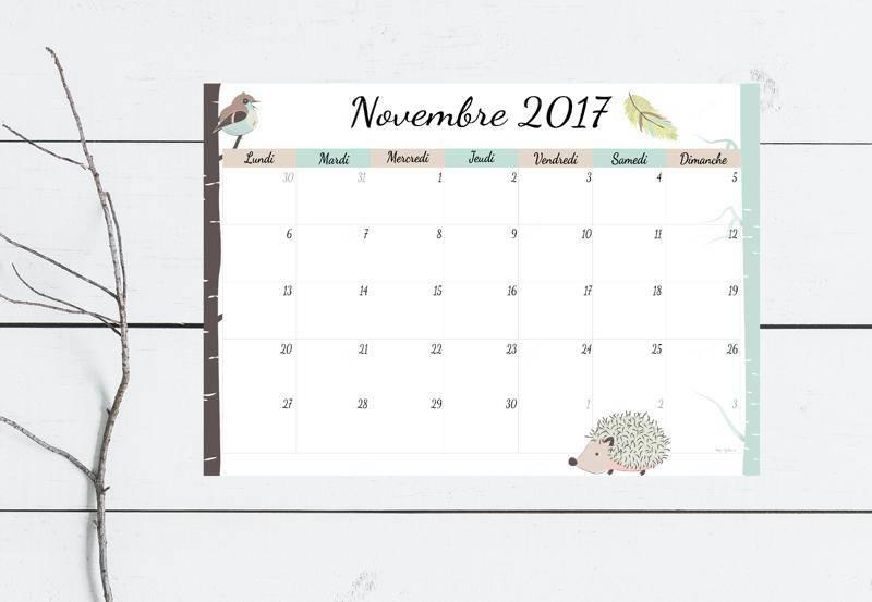 calendrier novembre 2017