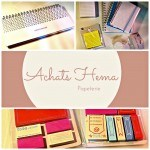 Mes achats sur Hema : papeterie ( back to school )