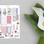 Stickers Paris à imprimer |Happy Planner