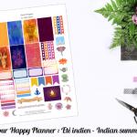 Set pour Happy Planner ✯ Eté indien