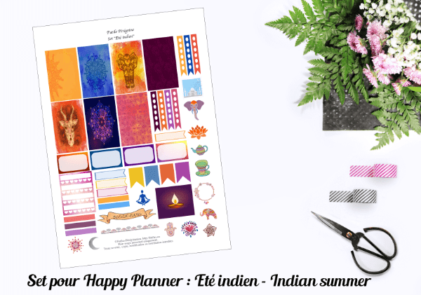 indian summer planner set